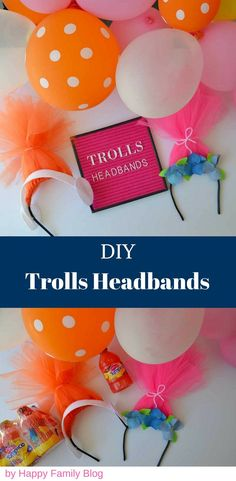 DIY Trolls Headbands