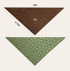 Freebook Dreieckstuch: Wickelschal für die Lybsten nähen