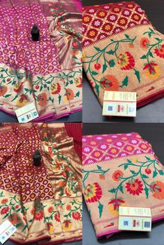 Buy Pure Handloom Khaddi Georgette With Bandini sarees 8897195985 siri designers | #siridesigners Georgette Sarees, Gift Wrapping, Pure Products, Girls, Fabric, Design, Fashion, Gift Wrapping Paper, Little Girls