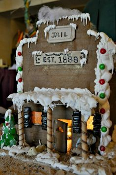 wild west gingerbread house village