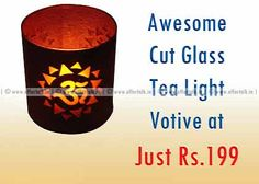 Awesome Cut Glass Tea Light Votive at Just Rs.199 Only (Free Shipping)