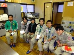 """This is a last day of """"JOTA-JOTI 2013"""" here in Japan. Today, Yokohama 87 Troop joined the video chat with the scout groups in and out of Japan. They joined JOTI after their weekend camping.  (Yokohama Nanoh district, Kanagawa Council, SAJ)"""