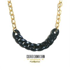 Chunky chain necklace necklace friendship bracelet Handmade diy accessories jewelry double ring bracelet necklace online shop trusted seller, twitter & IG @cmdbymirna, jakarta, indonesia