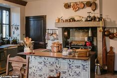 Latest series of Escape to the Chateau sees Dick and Angel unveil striking copper bath French Chateau Homes, Angel Strawbridge, Home Goods, Sweet Home, Manor Houses, Mail Online, Daily Mail, Angel Adoree, Unfitted Kitchen