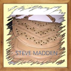 Host PickSteve madden bride studded handbag Just In Steve Madden Tan crossbody with gold studs NWT has handle as well. Zip flap front and underneath is large pocket 11x7. Inside the actual purse is one zip pocket and 2 others.  The large flap is a storage area as well. The purse is 14.5x18.  Steve Madden Bags Crossbody Bags