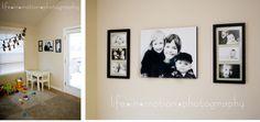 ideas para decorar con fotos, como volando entre dos vidrios
