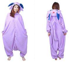 11979dd1aff free pp New Anime Pokemon Master Espeon Cosplay Costume Onesie Jumpsuit  Pyjamas Hot Sale