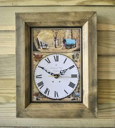 The Handmade Furniture Company Rustic Bowtop Gypsy Caravan Handmade Wooden Wall Clock, £19.99