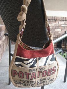 Love this bag! Maybe use a burlap bag without the word 'potato' on it...?