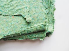 Handmade PAPER GREEN 6 sheets of 8.5x7 inches by UselessPaper