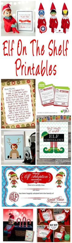 40 Fun & Creative Christmas Elf On The Shelf Printables Elf On The Shelf printables. Planners, welcome and goodbye letters, report cards, activity cards, photo booth props and accessories. Christmas Activities, Christmas Traditions, Family Traditions, Elf On The Shelf, Shelf Elf, All Things Christmas, Christmas Holidays, Buddy The Elf, Reno