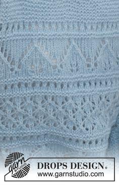 Ravelry: Matelot pattern by DROPS design Jumper Knitting Pattern, Jumper Patterns, Knitting Stiches, Lace Patterns, Knitting Patterns Free, Free Knitting, Baby Knitting, Crochet Patterns, Drops Design