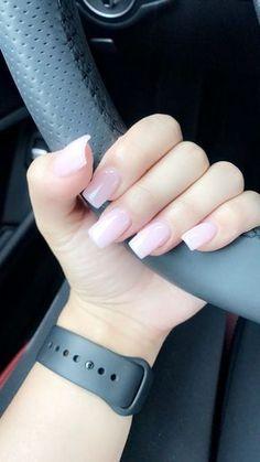 Bubblebath OPI gel polish. Square acrylic gel nails
