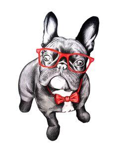 Happy Dog Art Print by 13 Styx