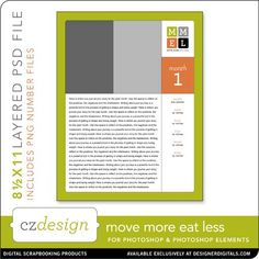 Move More Eat Less 8.5 x 11 Template