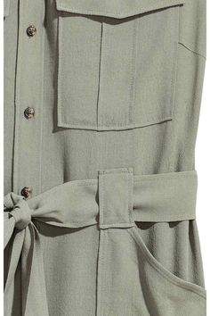 Szmizjerka bez rękawów - Jasny khaki - ONA | H&M PL