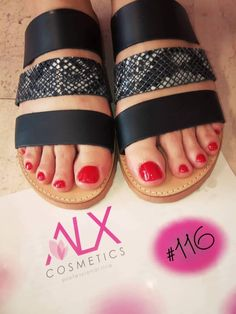 Pedicure με απλό βερνίκι ALX #116 Pool Slides, Slip On, Cosmetics, Sandals, Shoes, Fashion, Moda, Shoes Sandals, Zapatos