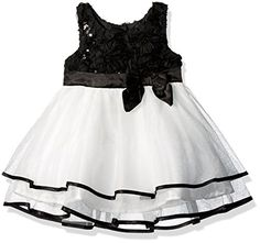 64484804ff9 Amazon.com  Lilt Girls  Soutache Sequin Mesh Dress with Bow  Clothing