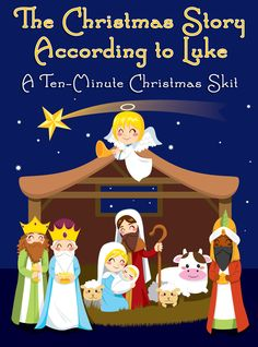 If your kids like acting, role playing, or imagining, here's a 10-minute Christmas skit for class that is very easy! The teacher can be the narrator if needed, and it's mostly pantomime of the other parts!