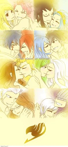 Fairy Tail's couples by black2sun2.deviantart.com on @deviantART