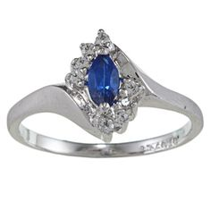 @Overstock - Marquise-cut blue and round-cut clear cubic zirconia ringSterling silver jewelryClick here for ring sizing guidehttp://www.overstock.com/Jewelry-Watches/Sterling-Essentials-Silver-Marquise-cut-Blue-Cubic-Zirconia-Ring/6689577/product.html?CID=214117 $22.49