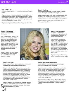 """Get the Look! Megan Hilty is a beautiful singer, dancer, actress who uses Pink Papaya.  This is a tutorial on how she """"get's the look"""""""