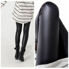 Black women leggings faux leather high quality – Gifts Leads