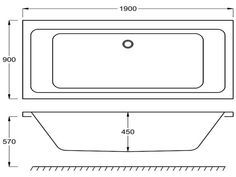 Standard Bathtub Size Freestanding Bath