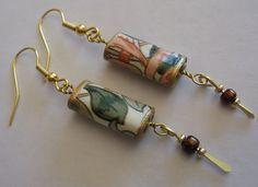 Paper Bead Dangle Earrings Handmade Jewelry 10 00 Via Etsy Look
