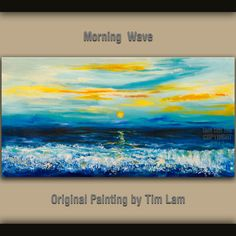 Original Oil Painting Morning Wave seascape art on by elseart, $329.00