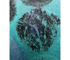 Black and Blue Abstract Monoprint