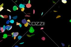 confetti isolated on black - Colorful confetti isolated over black background
