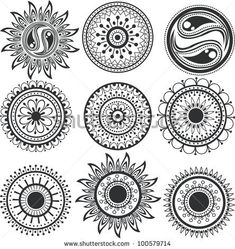 Set Of Colorful Mandalas Stock Vector 101226319 : Shutterstock