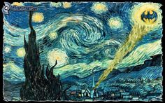 Vincent Van Gogh - The Starry Night, Batman, parody