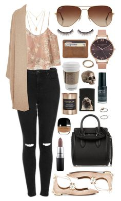 Untitled #430 by clary94 on Polyvore featuring polyvore, Rosetta Getty, MANGO, Topshop, Aquazzura, Alexander McQueen, Forever 21, Matthew Calvin, Rayban, MAC Cosmetics, shu uemura, Marc Jacobs, Zippo, Cocolux, Arteriors, fashion, style and clothing