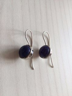 Colorz Of Earth: #Lapis #Lazuli Gemstone Earrings in 925 Sterling #Silver #ColorzOfEarth