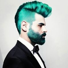 """""""Men With Unicorn Hair"""" Is Just As Amazing As It Sounds #refinery29  http://www.refinery29.com/colorful-beards-trend#slide-4  Yes, please, and thank you."""