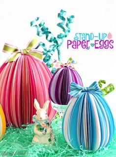 DIY stand up paper eggs