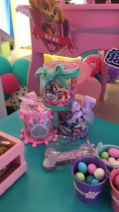Girl Paw Patrol Party, Sky Paw Patrol, Paw Patrol Birthday Girl, Baby Girl Birthday, Paw Patrol Party Decorations, Happy Paw, Girls Birthday Party Themes, Fall Birthday, Happy B Day