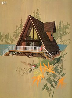 I think this was the same plan used for my grandparents beach house in Lincoln City.