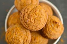 Turmeric-Coconut-Flour-Muffins - Skip the maple syrup and use an erythritol/stevia mix.