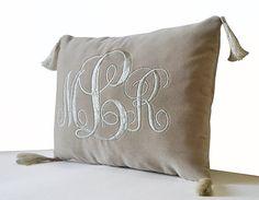 Velvet Cushion Wedding Monogram Pillows Gold Pillow Pillow
