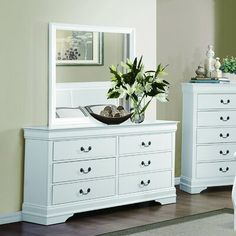 Michael's Superstore is leading Online Home Furniture Store in Los Angles(LA). Buy home furniture online for living room, dining & bedroom at affordable rate. Bedroom Dressers, Wood Bedroom, Bedroom Furniture, Furniture Ideas, Painted Furniture, Bedroom Chest, Bedroom Inspo, Cheap Furniture, Bedroom Ideas