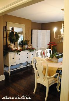 Turn drab dark furniture into something beautiful with paint.