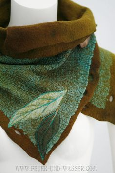 Felted Scarves Handmade ready to ship today by FeuerUndWasser