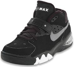 Nike Air Force Max - 'Black/Metallic Silver' I loved these back in Fab Barkley! Copped a re-release in Nike Heels, Nike Tights, Nike Boots, Sneakers Nike, Nike Air Force Max, Nike Air Max, Kevin Durant Shoes, Nike Fashion, Fashion News