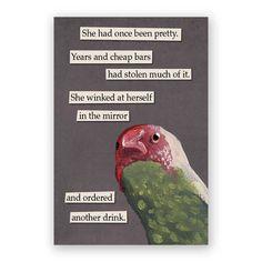 Wink Magnet - Bird - Humor - Gift - Stocking Stuffer - Mincing Mockingbird