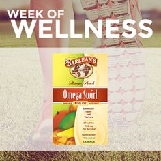 Barlean's is participating in the Week of Wellness on Friday March 13th at 1pm EST! #WeekofWellness