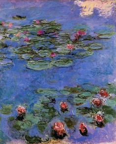 Claude Monet | Red water lilies, 1914-1917