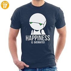 Happiness Is Overrated Hitchhikers Guide Men's T-Shirt (*Partner-Link)